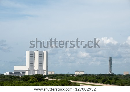 Vehicle Assembly Building, Cape Canaveral, 12/08/2012 - stock photo
