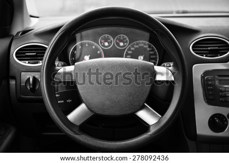 vehicle interior - stock photo