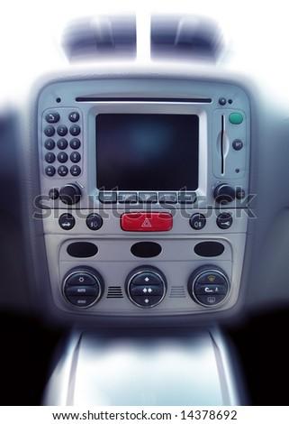 Vehicle interior control board - stock photo