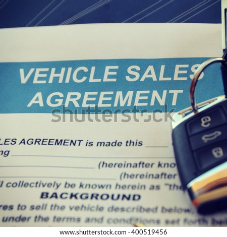 Vehicle Sales Agreement Document Form