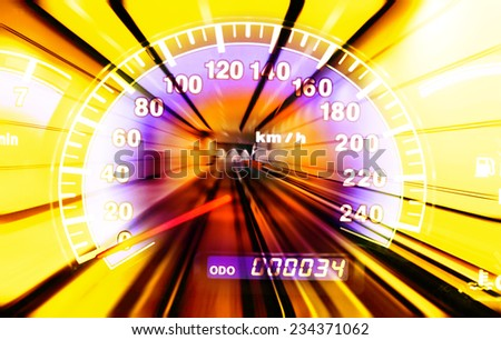 Vehicle speed - stock photo