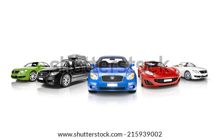 Vehicles Collection - stock photo