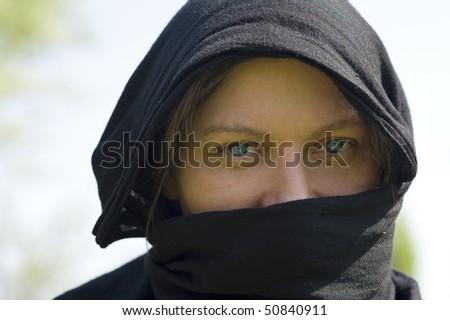 Veiled Woman. - stock photo