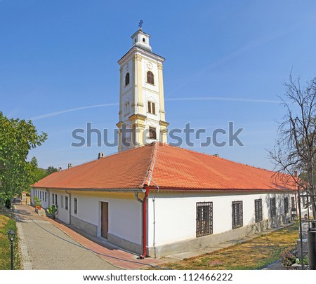 Velika Remeta Monastery in Fruska Gora mountain in the northern Serbia, in the province of Vojvodina, Serbia - stock photo