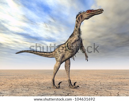 Velociraptor Computer generated 3D illustration - stock photo
