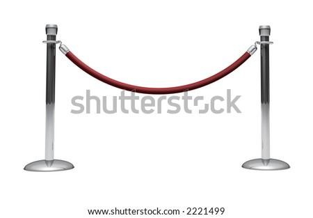 velvet rope - stock photo