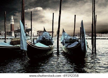 Venecie - travel romantic pleace - stock photo