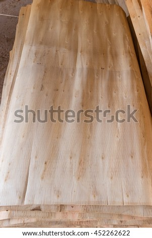 Veneer peeling and manufacturing of veneering woods and plywood panels of eucalyptus in China