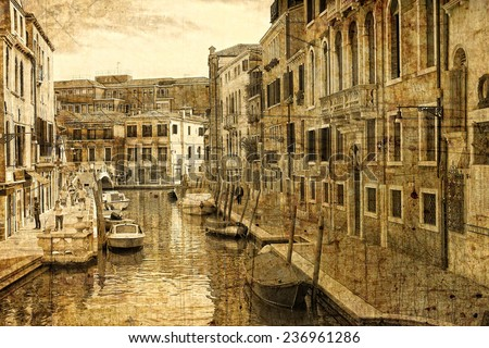 Venetian architecture in retro style