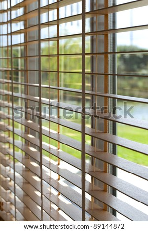 Venetian blind in a house - stock photo