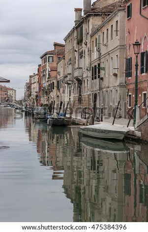 Venetian Canal View -Venice, Italy