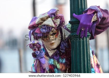Venetian carnival mask - stock photo