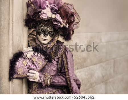 venetian carnival mask with copy space
