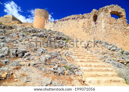 Venetian fortress built on top of the old Greek citadel, Argos, Greece - stock photo