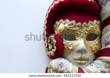 Venetian mask on a light background