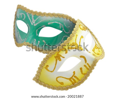 Venetian mask on the white background