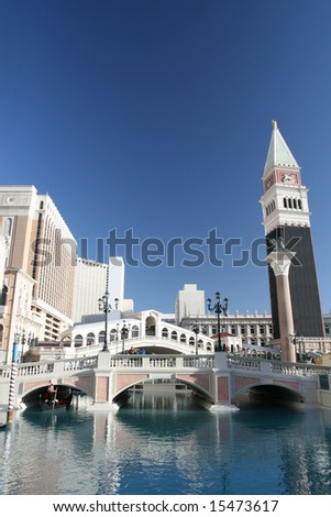Venetian Themed Hotel in Las Vegas - stock photo