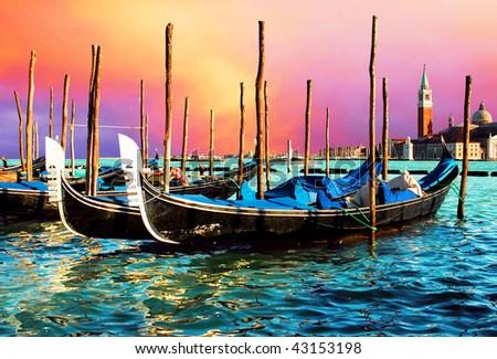 Venezia - travel romantic pleace - stock photo