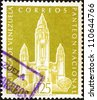 VENEZUELA - CIRCA 1960: a stamp printed in the Venezuela shows National Pantheon, Caracas, Venezuela, circa 1960 - stock photo