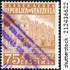 VENEZUELA - CIRCA 1953: A stamp printed in Venezuela shows Postoffice in Caracas, circa 1953 - stock photo