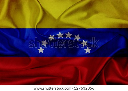 Venezuela grunge waving flag - stock photo