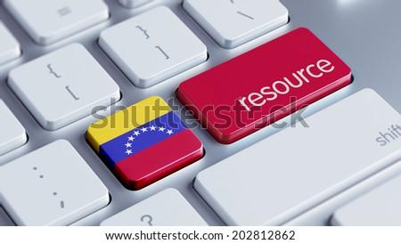 Venezuela High Resolution Resource Concept - stock photo