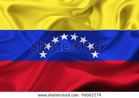 Venezuela waving flag - stock photo