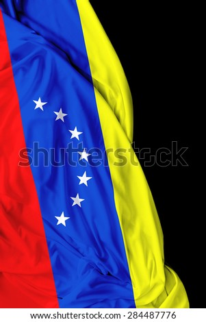 Venezuelan waving on black background