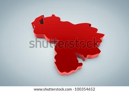 Venezuella Map - stock photo