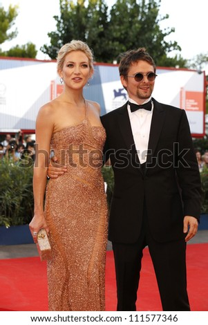 VENICE - AUG 28: Kate Hudson, Matt Bellamy at the 69th International Venice Film Festival for 'The Reluctant Fundamentalist' on August 28, 2012 in Venice, Italy