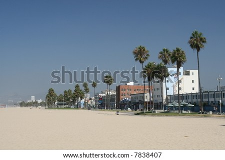 Venice Beach & Boulevard - stock photo
