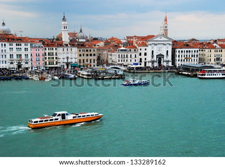 Venice canal and buildings - stock photo