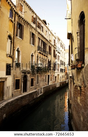 Venice, canals and historic buildings