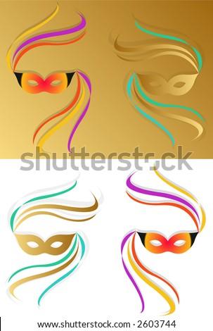 Venice Carnival Mask 1 - stock photo
