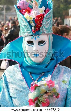 venice, carnival mask - stock photo