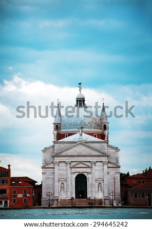 venice city italy Church of the Most Holy Redeemer landmark architecture - stock photo