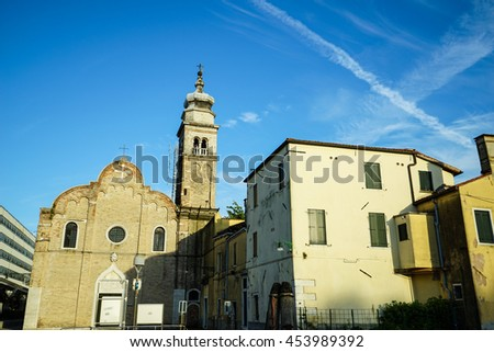 Venice cityscape, traditional buildings. Italy, Europe. - stock photo