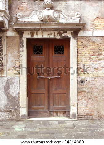 venice door, for home installation - stock photo