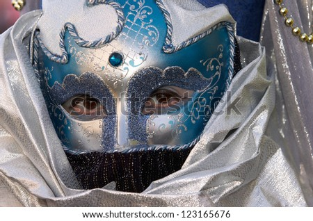 VENICE - FEBRUARY 17: Person in Venetian costume attends the Carnival of Venice, festival starting two weeks before Ash Wednesday on February 17, 2007 in Venice, Italy.
