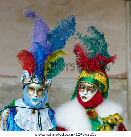VENICE - FEBRUARY 17: Person in Venetian costume attends the Carnival of Venice, festival starting two weeks before Ash Wednesday on February 17, 2012 in Venice, Italy.