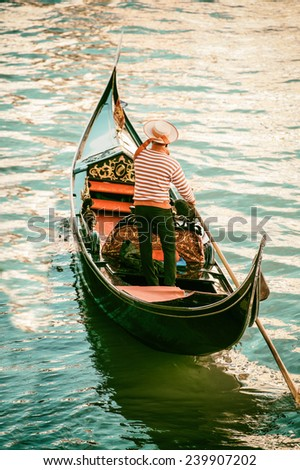 Venice Gondola - stock photo