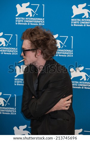 VENICE, ITALY - AUGUST 29: Caleb Landry Jones attends the 'Heaven Knows What' photocall during the 71st Venice Film Festival on August 29, 2014 in Venice, Italy