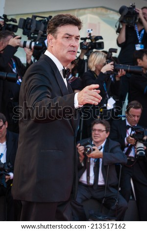 VENICE, ITALY - AUGUST 27: Daniel McVicar attends the Opening Ceremony and 'Birdman' premiere during the 71st Venice Film Festival at Palazzo Del Cinema on August 27, 2014 in Venice, Italy