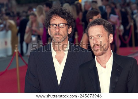 VENICE, ITALY - AUGUST 27:  Ethan and Joel Coen arrive at the opening ceremony and  'Burn After Reading' Premiere during the 65th Venice Film Festival on August 27, 2008 in Venice, Italy - stock photo