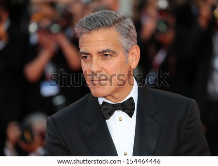 VENICE, ITALY - AUGUST 28: George Clooney attend 'Gravity' Premiere and Opening Ceremony during the 70th Venice International Film Festival on August 28, 2012 in Venice, Italy  - stock photo