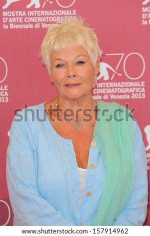 VENICE, ITALY - AUGUST 31: Judi Dench attend the 'Philomena' Photocall during the 70th Venice Film Festival on August 31, 2013 in Venice, Italy  - stock photo
