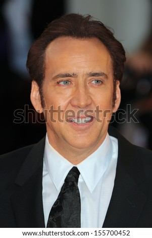 VENICE, ITALY - AUGUST 30: Nicolas Cage  at the 'Joe' Premiere during the 70th Venice International Film Festival on August 30, 2013 in Venice, Italy  - stock photo
