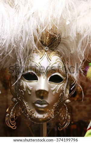 VENICE, ITALY - CIRCA FEBRUARY 2016: Masks - impressions from the Carneval of Venice.