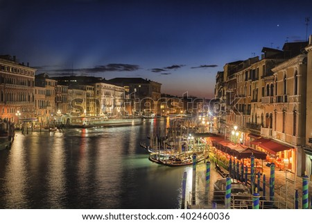 Venice - Italy - Grand Canal at night.