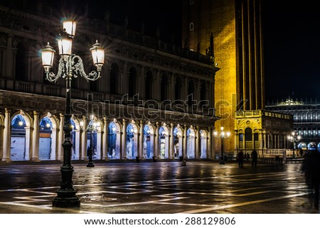 VENICE, ITALY - JANUARY 31, 2015: Venice San Marco Square - stock photo